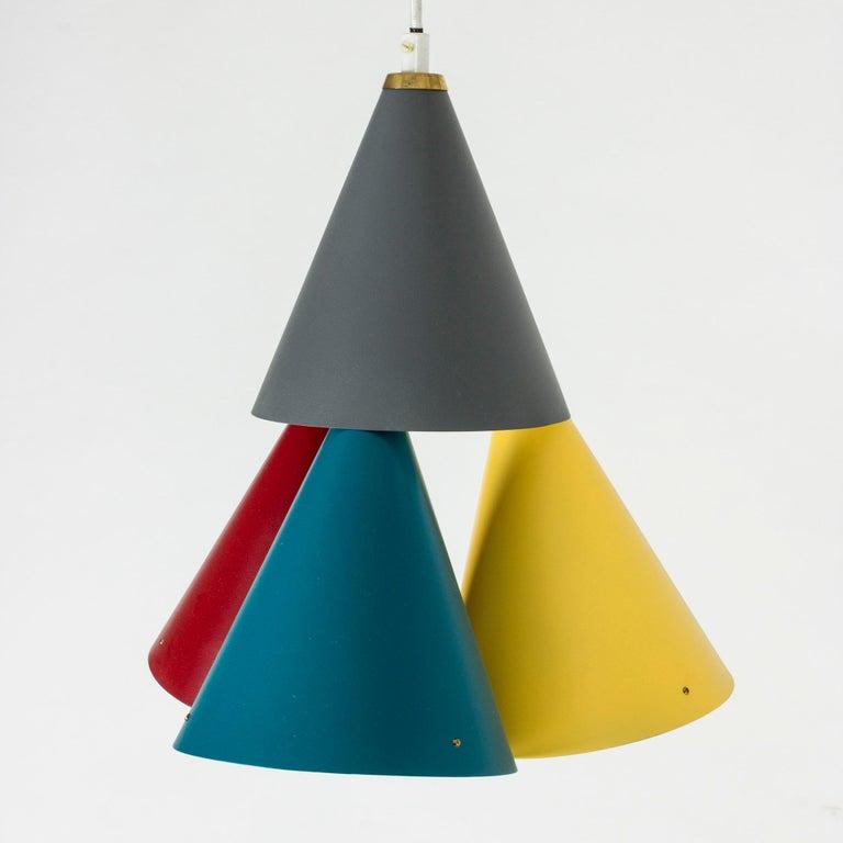 Danish Colorful Pendant Light by Svend Aage Holm Sørensen For Sale