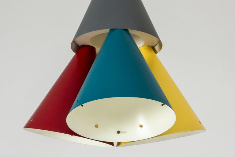 Colorful Pendant Light by Svend Aage Holm Sørensen In Good Condition For Sale In Stockholm, SE