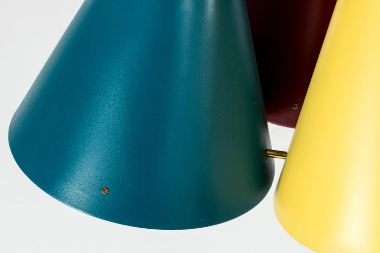 Mid-20th Century Colorful Pendant Light by Svend Aage Holm Sørensen For Sale