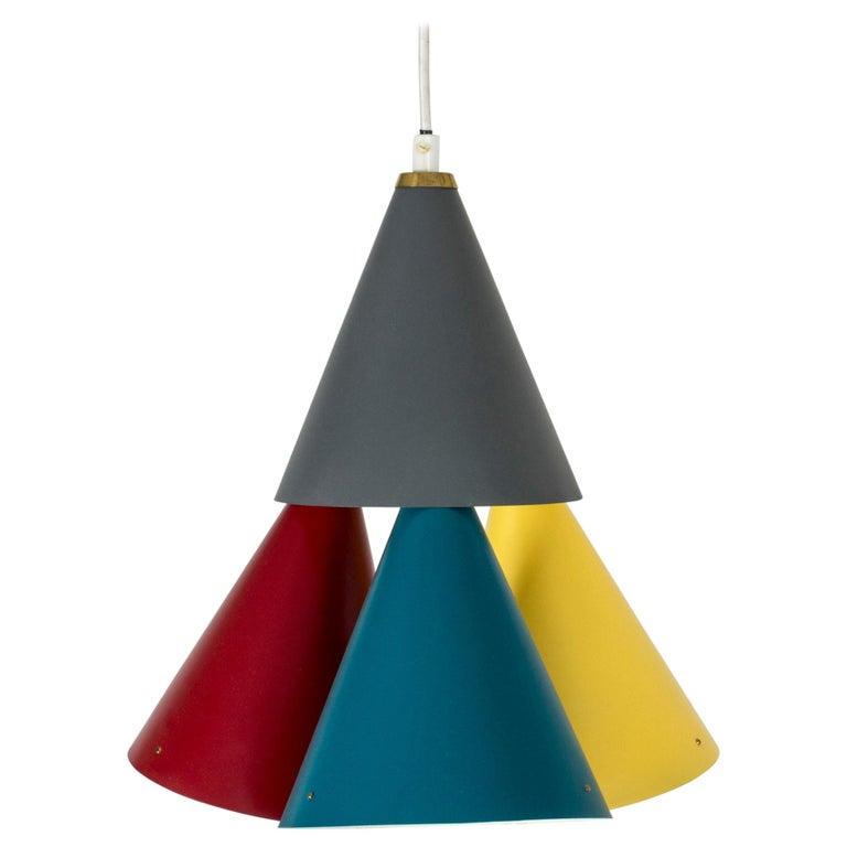 Colorful Pendant Light by Svend Aage Holm Sørensen For Sale