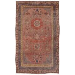 Colorful Pink Khotan Carpet
