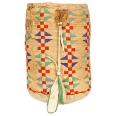 Colorful Plateau Cornhusk Native American Sally Bag