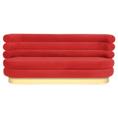 "Colorful Red Marshmallow Sofa ""Royal Stranger"""