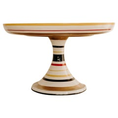 Colorful Round Pedestal Table by Valentina Audrito