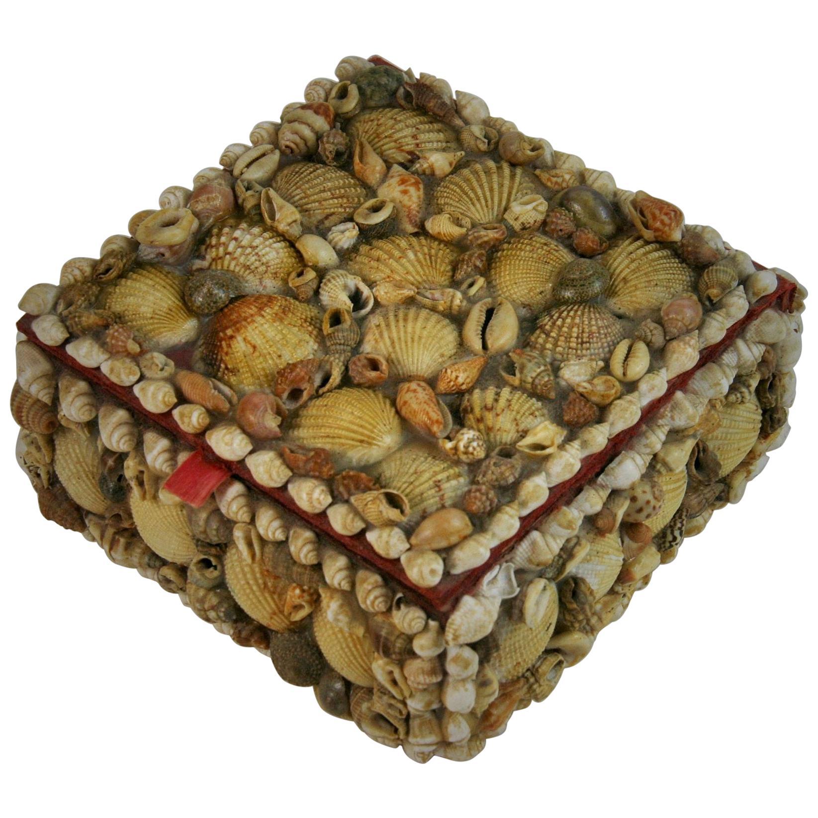 Colorful Seashell Folk Art Box