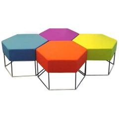 Colorful Set of Sei Hexagonal Seats