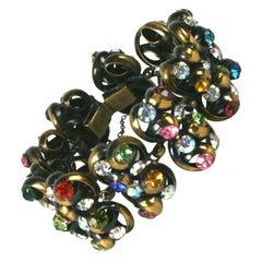 Colorful Swirled 1950's Link Bracelet