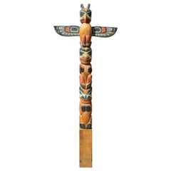 Colorful TOTEM by Master Carver Leo Jacobs