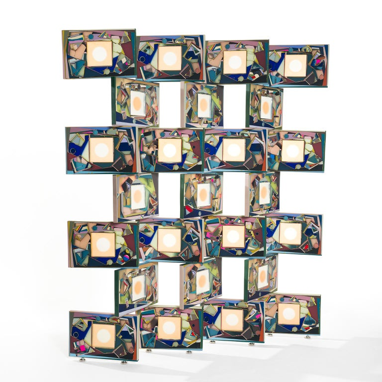 Colorful Translucent Resin Room Divider Screen by Elyse Graham For Sale 1