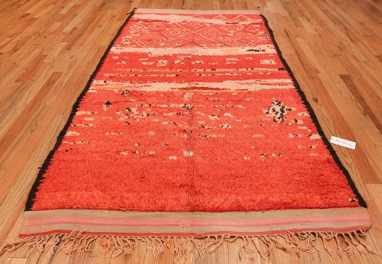 Beautiful and Quite Captivating Colorful Tribal Vintage Berber Moroccan Rug, Country of Origin / Rug Type: Morocco, Circa Date: Mid – 20th Century – This fascinating and beautiful mid 20th century Moroccan rug will add interest to any room's