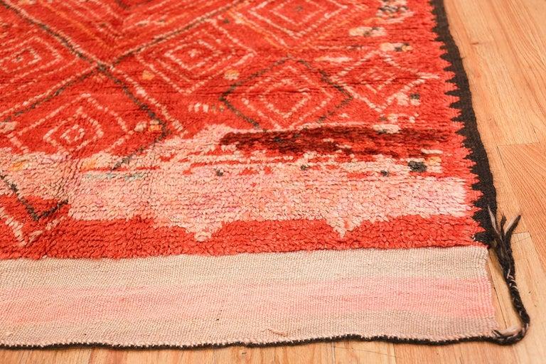 Mid-Century Modern Colorful Tribal Vintage Berber Moroccan Rug For Sale
