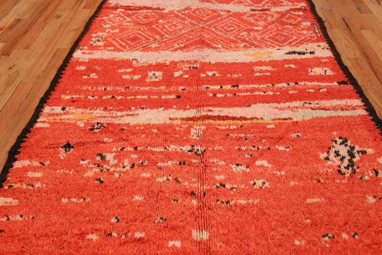 Hand-Knotted Colorful Tribal Vintage Berber Moroccan Rug For Sale