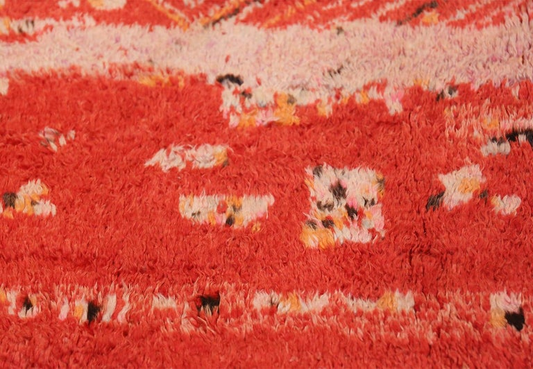 Colorful Tribal Vintage Berber Moroccan Rug In Excellent Condition For Sale In New York, NY