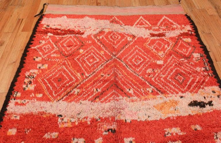 Wool Colorful Tribal Vintage Berber Moroccan Rug For Sale