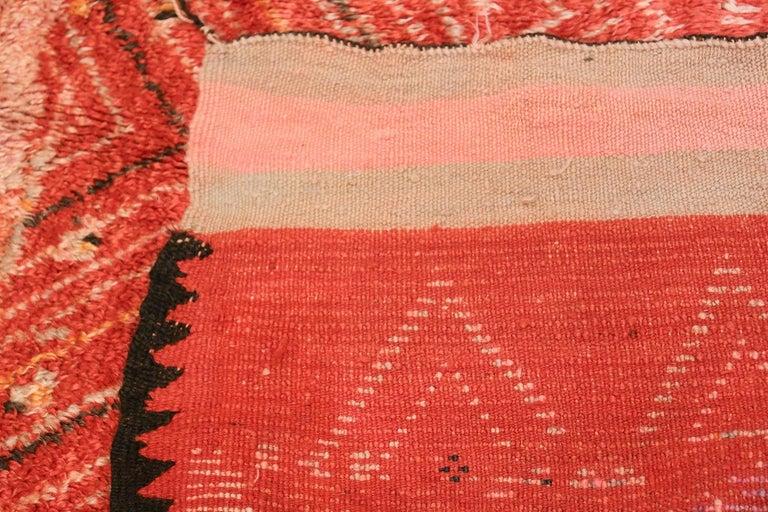 Colorful Tribal Vintage Berber Moroccan Rug For Sale 2