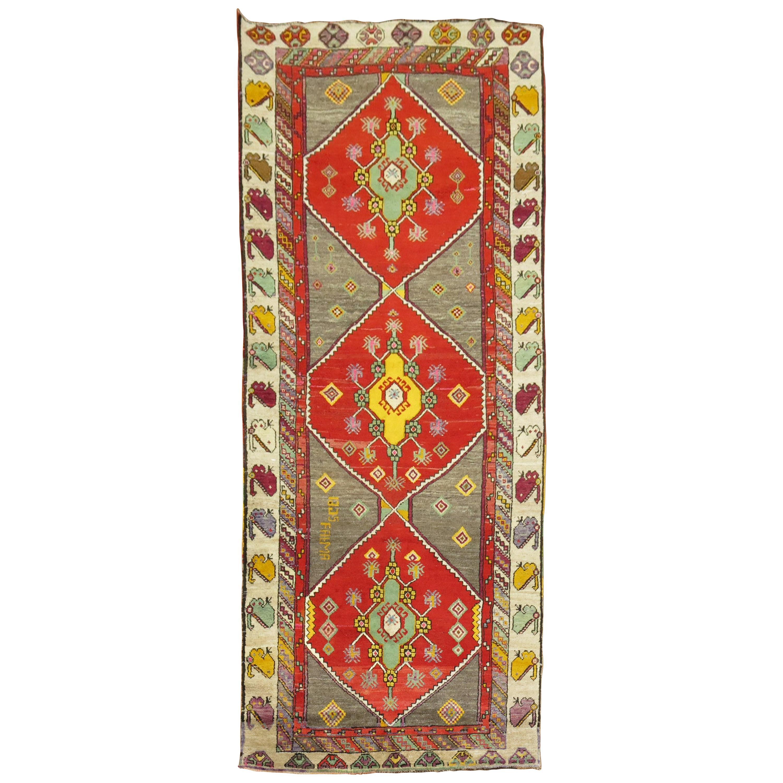 Colorful Turkish Anatolian Wide Runner