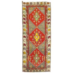 Colorful Turkish Anatolian Wide Runner