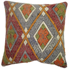 Colorful Turkish Cicim Kilim Pillow