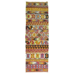 Colorful Turkish Kilim Runner