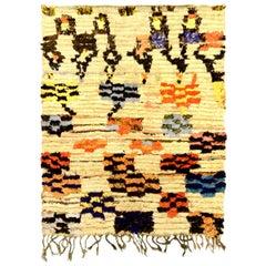 Colorful Vintage Handmade Moroccan Rug