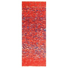 Colorful Moroccan Berber Rug. Size: 4 ft 7 in x 12 ft 6 in