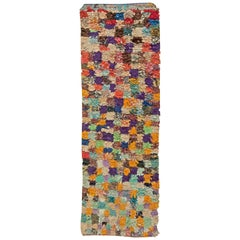 Colorful Vintage Moroccan Cotton Runner