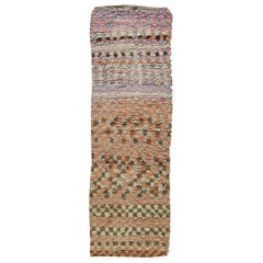Colorful Vintage Moroccan Handmade Cotton Runner