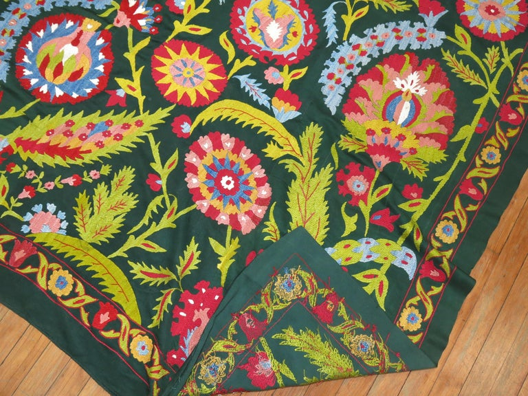Colorful Vintage Suzanni Embroidery In Good Condition For Sale In New York, NY