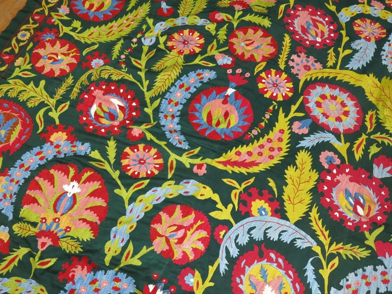 20th Century Colorful Vintage Suzanni Embroidery For Sale