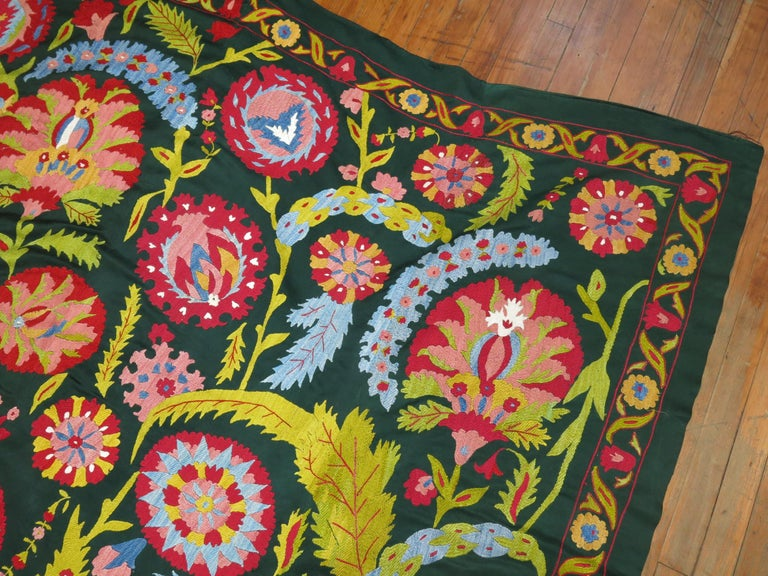 Cotton Colorful Vintage Suzanni Embroidery For Sale
