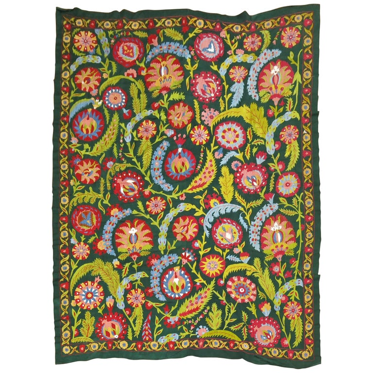 Colorful Vintage Suzanni Embroidery For Sale