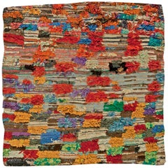 Colorful Vintage Tribal Handmade Moroccan Rug