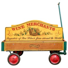 Colorful Vintage Wine Merchant's Cart