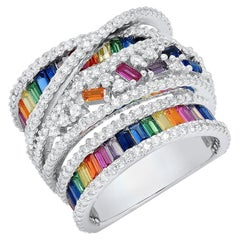 Colorful Zirconia Silver Ring