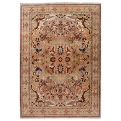 Colorful Indian Agra Handmade Wool Rug