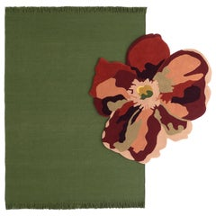 NEW - Colors Basil Dhurrie Standard Natural Wool Rug by Nani Marquina