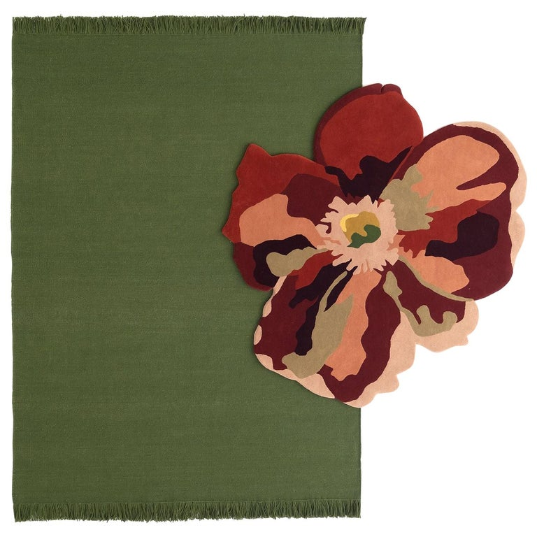 NEW - Colors Basil Dhurrie Standard Natural Wool Rug by Nani Marquina For Sale