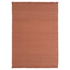 NEW - Colors Blush Dhurrie Standard Natural Wool Rug by Nani Marquina