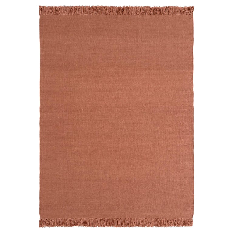 NEW - Colors Blush Dhurrie Standard Natural Wool Rug by Nani Marquina For Sale