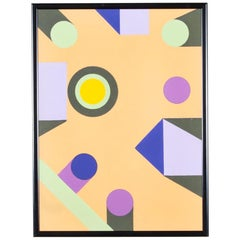 """Colors of Infinity"" Geometric Painting on Canvas by Kenneth Licht"