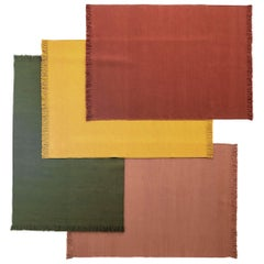 NEW - Colors Safron Dhurrie Standard Natural Wool Rug by Nani Marquina