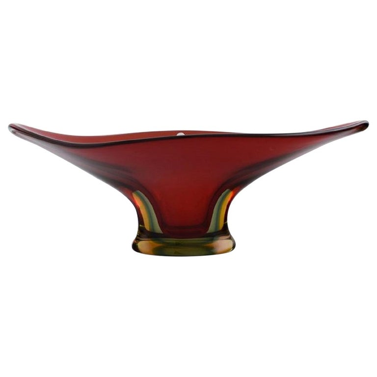 Colossal Murano Vase in Mouth Blown Art Glass, 1960s-1970s For Sale