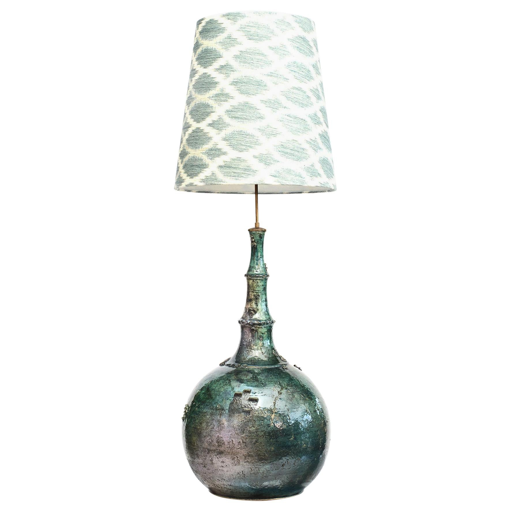 Colossal 'One of a Kind Ceramic Lamp by Bjorn Wiinblad, Denmark, 1960'S