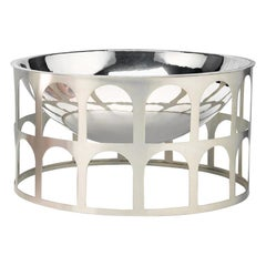 Colosseum II Silver Pleated Metal Centerpiece by Jaime Hayon