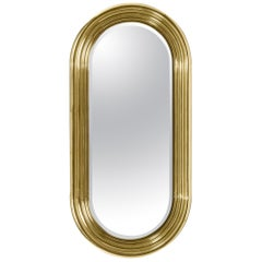 Colosseum Mirror with Polished Brass Tubes