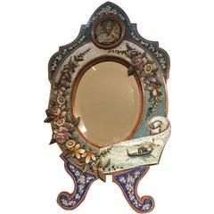 Colourful 19th Century, Italian Micro-Mosaic Mirror