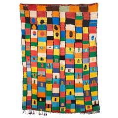 Colourful Azilal Vintage Moroccan Berber Rug