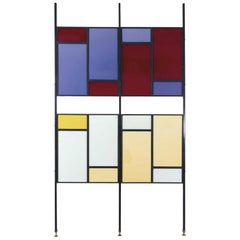 Colourful Mid-Century Modern Italian Partition Wall or Room Divider
