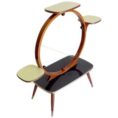 Midcentury 4-Tier Kidney Plant Stand Planter Shelf Side Table, Stilnovo Era