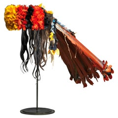 "Colourful Neck Covering Headdress ""Myhara"" from the Rikbaktsa People in Brasil"